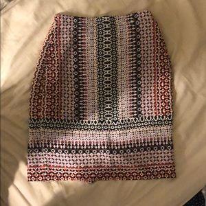 J.Crew Printed Pencil Skirt